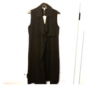 NWT Zara Black Sleeveless Long Coat US S